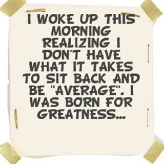 Born For Greatness!